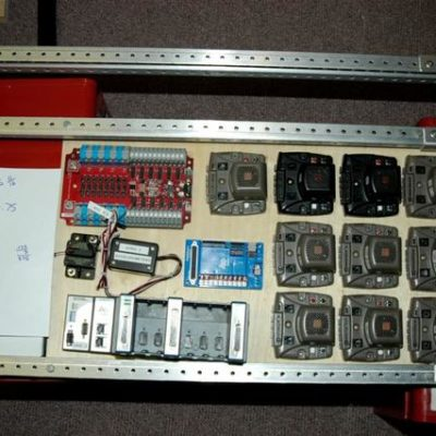The electronics components.