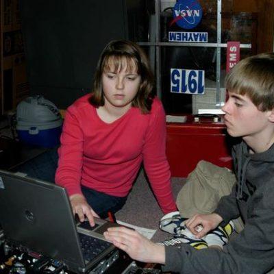 Elizabeth P. and Nathan G. updating jaguars.
