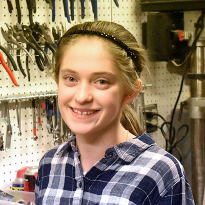 Hi, my name is Mikayla. This is my first year on Mechanical Mayhem. I am helping anywhere needed.  When I'm not at robotics I play piano and harp.