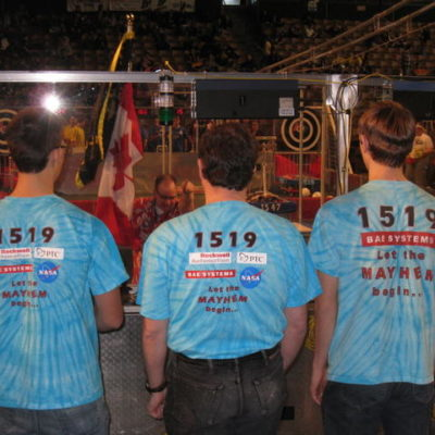 And on the Blue alliance we have Team 1519, Mechanical Mayhem!
