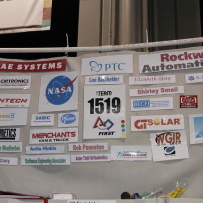 Our sponsors proudly displayed in our pit area!