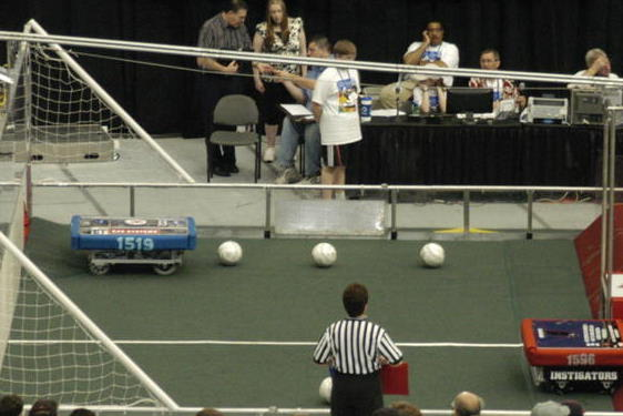 Vortex rearing to go at the start of a match.