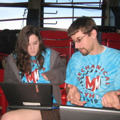 Brittany F. and Nathan S. scouting.