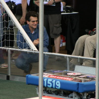 Dean Kamen watching our robot.